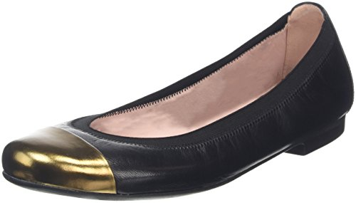 Pretty Ballerinas37190 Mirrow Ottone/coton Negro - Ballerine donna , nero (Black (Black)), 41
