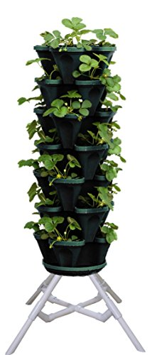 vertical gardening vegetable tower indoor outdoor. Black Bedroom Furniture Sets. Home Design Ideas