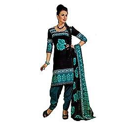 Srusti Enterprise Women's Unstitched Cotton dress material (SE-05_Multi_Free Size)