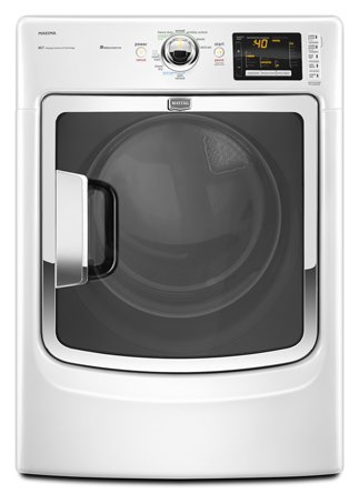 Maytag 7.4 Cu. Ft. Electric Steam Dryer White Med6000xw