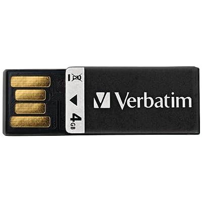 Verbatim 4 GB Clip-IT USB 2.0 Flash Drive, Black 97555