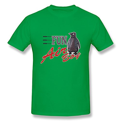Lule'X Cartoon Penguin Boys T Shirt,Forestgreen Short Sleeve T-Shirts Xx-Large