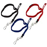 GBC BadgeMates Breakaway Lanyards with Swivel Hook, Assorted, 5 per Pack (3747213)