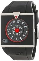 The One - AN04G03 - Spinning Wheel - Montre Homme - Quartz Analogique - Cadran Rouge - Bracelet Polyuréthane Noir