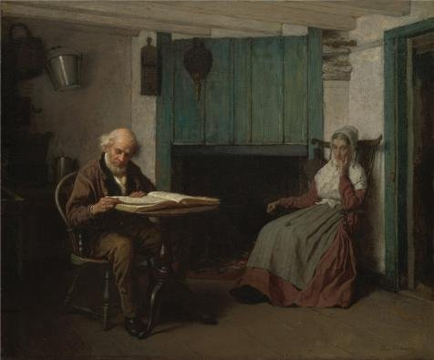 High Quality Polyster Canvas ,the High Resolution Art Decorative Prints On Canvas Of Oil Painting 'Eastman Johnson,Thy Word Is A Lamp Unto My Feet And A Light Unto My Path,ca.1878-1881', 20x24 Inch / 51x61 Cm Is Best For Powder Room Artwork And Home Gallery Art And Gifts (Fix My Ca compare prices)