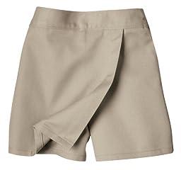 Dickies Big Girls\' Faux Wrap Skort, Khaki, 10 Regular