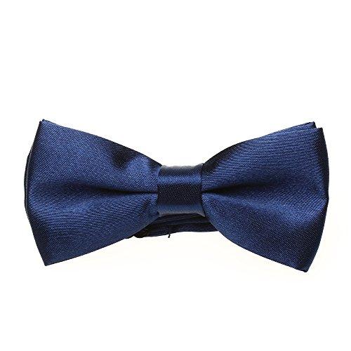 Children Baby Bow Tie Dark Blue Chinlon Adjustable for Dinner Party