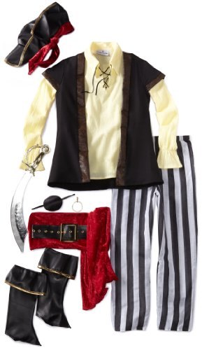 InCharacter Costumes, LLC Big Boys' Pirate Scoundrel Vest Set