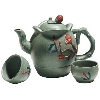 Blue Flowers Yixing Tea Set