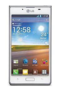 LG P700 Optimus L7 Smartphone 10,92 cm (4,3 Zoll) Touchscreen, 5 Megapixel Kamera, UMTS, WiFi, Android 4.0) weiß
