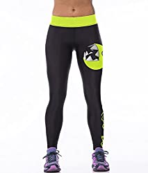 iSweven eating snake Design Printed Polyester Multicolor Yoga pant Tight legging for womens girls