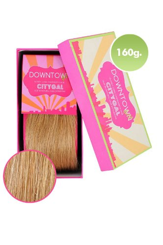 100% Remy Human Hair Clip Extensions in Golden Blonde 160g 20 Inch