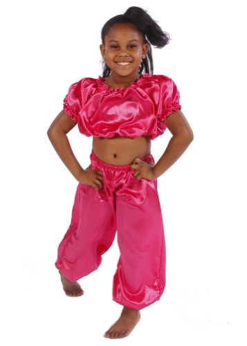 Belly Dance Kid's Satin Top & Pants Halloween Costume Set