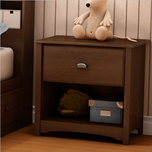 Cheap South Shore Nathan Kids Contemporary Wood Nightstand in Sumptuous Cherry Finish (B004CHRVN6)