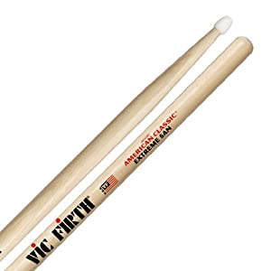 Vic Firth Extreme 5A American Hickory Nylon Tip Drumstick by Vic Firth