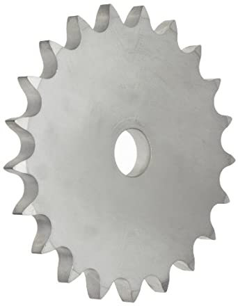 Martin Roller Chain Sprocket, Stainless Steel, Reboreable, Type A Hub, Single Strand, 50 Chain Size