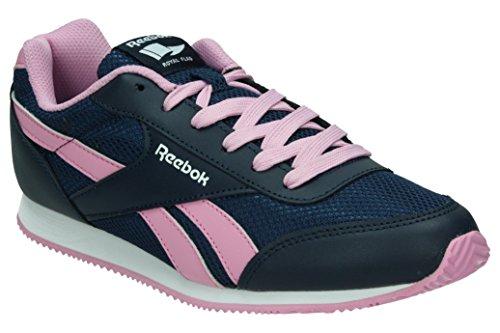 Reebok Royal Cljog 2 Zapatillas de running, Mujer, Azul / Rosa / Blanco, 38 1/2