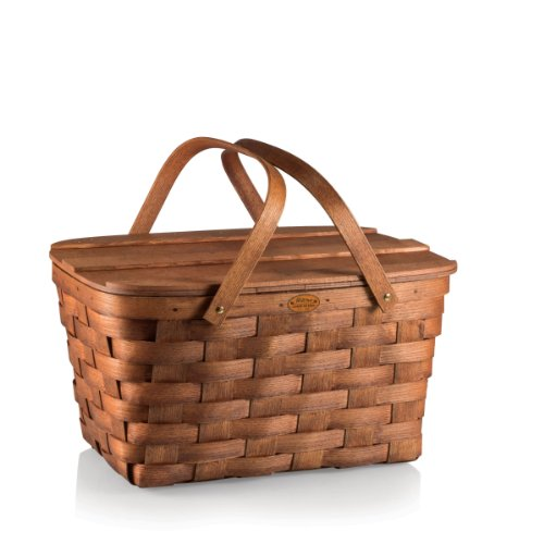 Picnic Time Prairie Picnic Basket back-605788