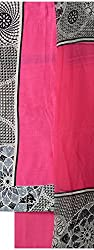 NAVRANG Women's Cotton Dress Material (NDT09, Pink)