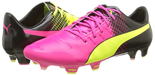 Puma evoPOWER 1.3 Tricks FG, Herren Fußballschuhe, Pink (pink glo-safety yellow-black 01), 42.5 EU (8.5 Herren UK) -