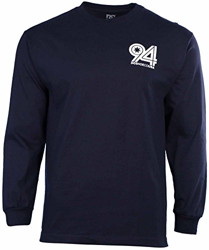 DC Shoes Men's Ninety For Ya Long Sleeve Shirt-Navy-Large
