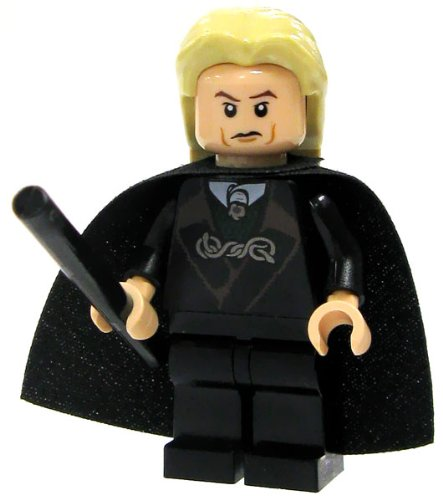 Lego Harry Potter Lucius Malfoy Minifigure with Black Wand - 1