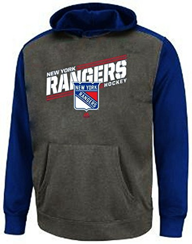 New York Rangers NHL Boys Majestic Pond Hockey Raglan Hoodie Youth Sizes (L) (Kids New York Rangers Sweatshirts compare prices)