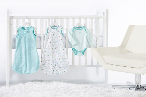 SwaddleDesigns 4 Piece zzZipMe Sack Crib Bedding Set, Turquoise, 3-6months