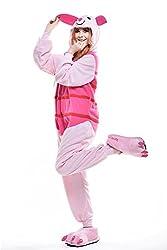 VU ROUL Unisex Adult Kigurumi Onesies Cosplay Costume Piglet Sleepwear Dress
