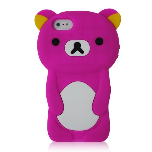 KIQ Teddy Bear 3D Design Silicone Case Cover