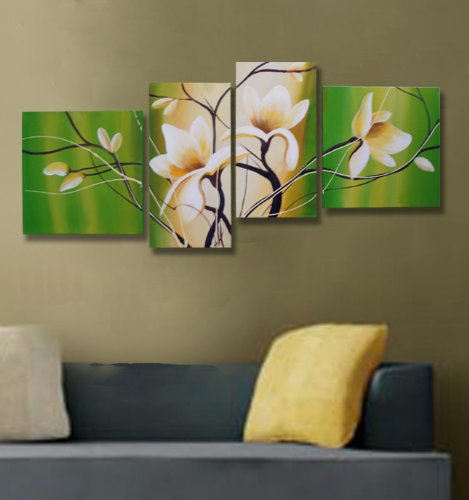 Modern Oil Painting on Canvas Stretched - Spring Green
