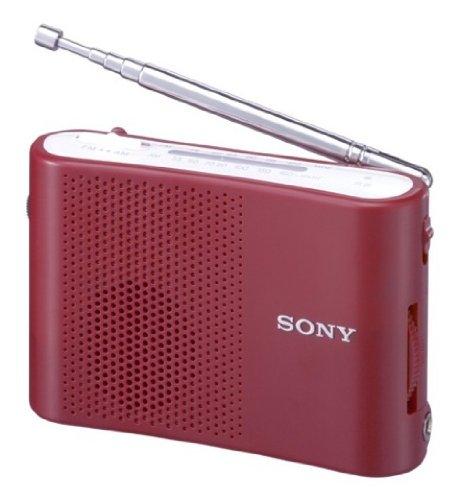 SONY FM/AMハンディーポータブルラジオ レッド ICF-51/R