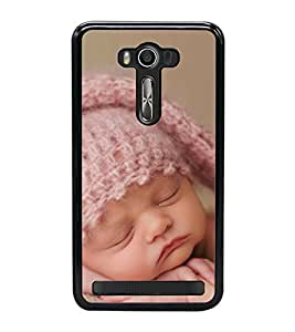 Cute Kid with Pink Cap 2D Hard Polycarbonate Designer Back Case Cover for Asus Zenfone 2 Laser ZE550KL (5.5 INCHES)