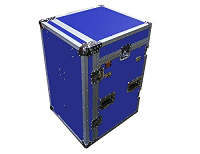 Mr. Dj CASE6000BL Flight Chest Style DJ Case with Mixer/CD Case and Built-In Folding Table (Blue)