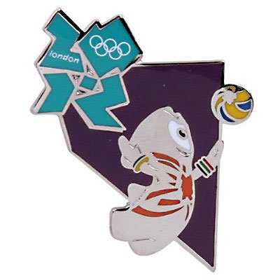 London 2012 Olympics Wenlock Volleyball Pin