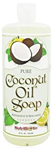 Pure Coconut Oil Soap Peppermint& Bergamont Nutribiotic 32 oz Liquid