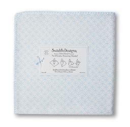 SwaddleDesigns Ultimate Receiving Blanket, Pastel Circle On Circles, Blue