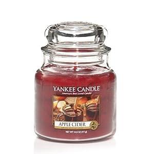 Yankee Candle Apple Cider Medium Jar Candle, Food & Spice Scent