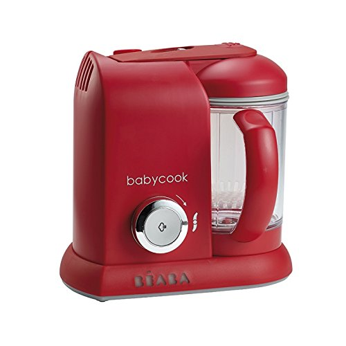 BEABA Babycook 4 in 1 Steam Cooker and Blender, 4.5 cups, Dishwasher Safe, Cherry (Steamer Puree compare prices)