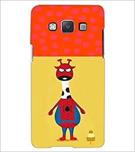 PrintDhaba Funny Image D-3730 Back Case Cover for SAMSUNG GALAXY E5 (Multi-Coloured)
