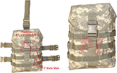 Gas Mask Model: Molle Tactical GAS MASK POUCH Pocket UTILITY Carrier Drop Leg Hip Rig - ACU from Generic :: Gas Mask Bag :: Army Gas Masks :: Best Gas Mask