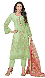 Mahaveer Fashion Women's Dress Material (9799_30_630006_Green_Free Size)