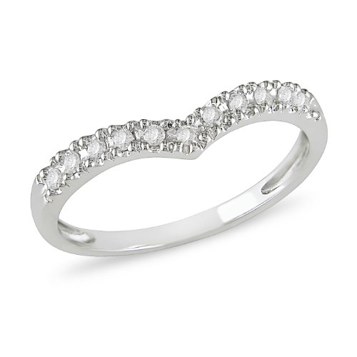 1/6 ct.t.w. Diamond Eternity Ring in 10k White Gold, I2-I3, G-H-I