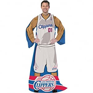 Los Angeles Clippers Comfy Throw Snuggie Blanket by NBA