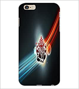 PrintDhaba Lord Ganesha D-2982 Back Case Cover for APPLE IPHONE 6 PLUS (Multi-Coloured)