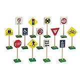 "Guidecraft Play Traffic Signs Block Set, 7"""