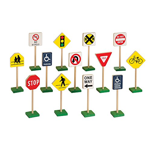 "Guidecraft Play Traffic Signs Block Set, 7"" - 1"