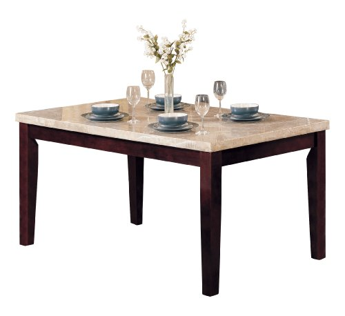Acme Furniture 17058 Marble Top Dining Table Espresso  : 41p8OqnR9pL from www.ebay.com size 500 x 458 jpeg 20kB