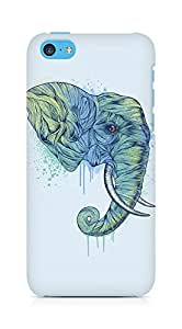 Amez designer printed 3d premium high quality back case cover for Apple iPhone 5C (Elephant art illust drawing animal)