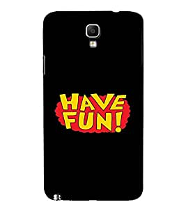 PrintVisa Fun Quotes Design 3D Hard Polycarbonate Designer Back Case Cover for Samsung Galaxy Note 3 Neo